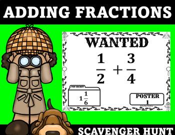 Adding Fractions Scavenger Hunt