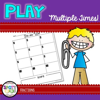 Adding Fractions Spin and Win