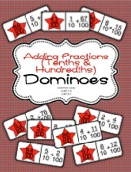 Adding Fractions - Tenths and Hundredths Dominoes