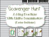 Adding Fractions (Un-Like Denominators) Scavenger Hunt
