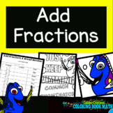 Adding Fractions: Unlike Denominators Coloring Book Math