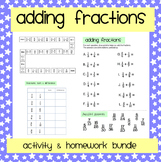 Adding Fractions: Worksheet & Activity Pack