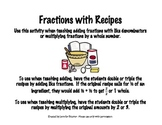 Adding Fractions Using Recipes