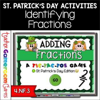 Adding Fractions St. Patrick's Day Powerpoint Game