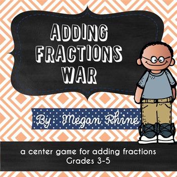 Adding Fractions War