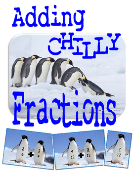 Adding Fractions Winter Theme