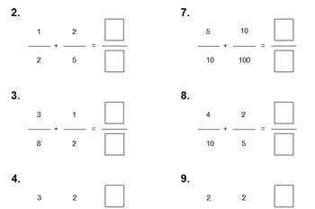 Adding Fractions With Unlike Demoninators (Common Base Fractions)
