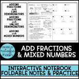 Adding Fractions & Mixed Numbers