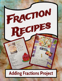 Math Adding Fractions and Mixed Numbers Project or Center (Rubric Included)