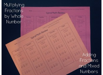 Adding Fractions and Mixed Numbers, Multiplying a Fraction by a Whole Number