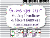 Adding Fractions and Mixed Numbers (Unlike Denominators) S