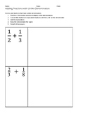 Adding Fractions and Mixed Numbers with Unlike Denominator