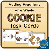 Adding Fractions of a Cookie Task Cards