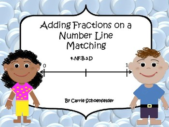Adding Fractions on a Number Line Matching 4.NF.B.3.D