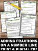 Adding Fractions with Unlike Denominators Worksheets { Number Lines }