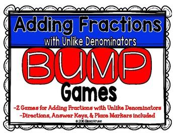 Fractions: Add Fractions w/ Uncommon Denominators {2 Diffe