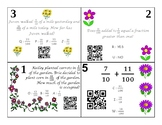 Adding Fractions with 10th and 100th QR task