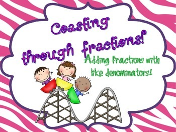 Adding Fractions with Common Denominators- Task Cards