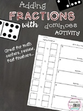 Adding Fractions Activity with Dominoes