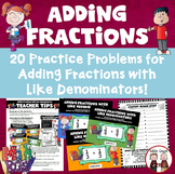 Adding Fractions with Like Denominators Activity
