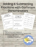 Fractions with Common Denominators - Step by Step