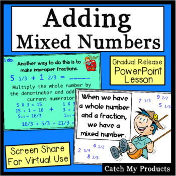 Adding Fractions with Regrouping in Power Point