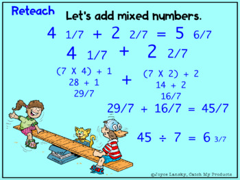 Adding Fractions with Regrouping for Promethean Board