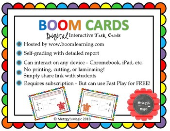 Adding Fractions with Unlike Denominators Digital Boom Cards Task Cards