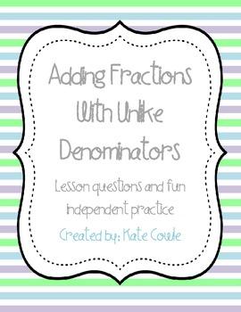 Adding Fractions with Unlike Denominators-Fun!
