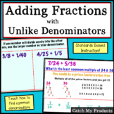 Adding Fractions with Unlike Denominators Power Point