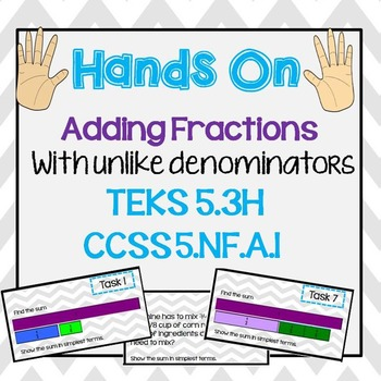 Adding Fractions with Unlike Denominators Power Point and