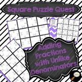 Adding Fractions with Unlike Denominators - Square Puzzle Quest