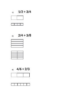 Adding Fractions with Unlike Denominators Using Models