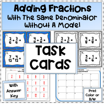 Add Fractions with Like Denominators