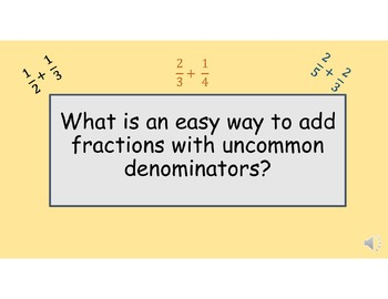 Adding Fractions w/uncommon denominators made Easy! A strategy that works!