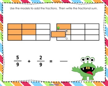 Adding Frightful Fractions (SMARTboard lesson)