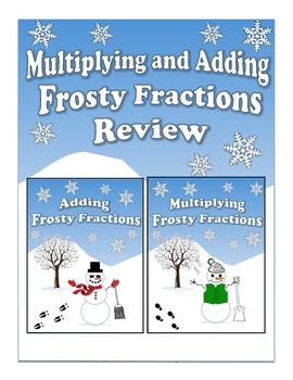 Multiplying and Adding Frosty Fractions Review - Double Activity