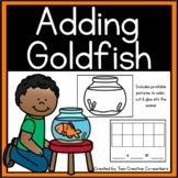 Cut/Glue/Color Addition Word Problems (Goldfish)