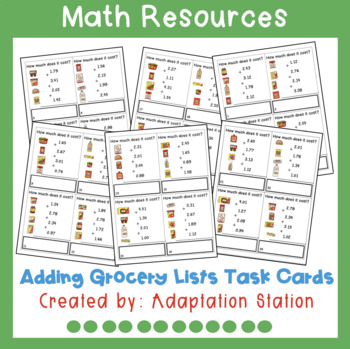 Adding Grocery List Task Cards