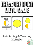 Adding Halves and Fourths Treasure Hunt Math Game