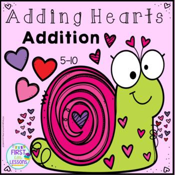 Adding Hearts: Addition Equation Practice 5-10