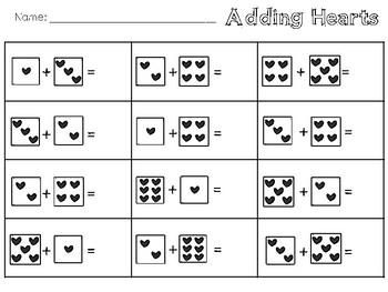 Adding Hearts  Worksheet