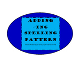 Adding -ING interactive Notebook page