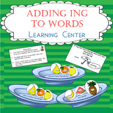 Adding -ING Matching and Sorting Game Learning Center