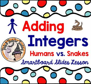 Adding INTEGERS Positives Negatives Snakes Humans Interact