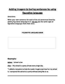 Adding Imagery to Boring Sentences