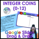 Adding Integers (0-12)  Integer Coins Digital Activity on