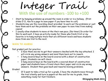 Adding Integers -100 to +100