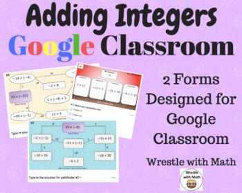 Adding Integers – 2 Google Form Activities – Perfect for Google Classroom