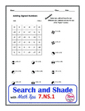Adding Integers Search and Shade